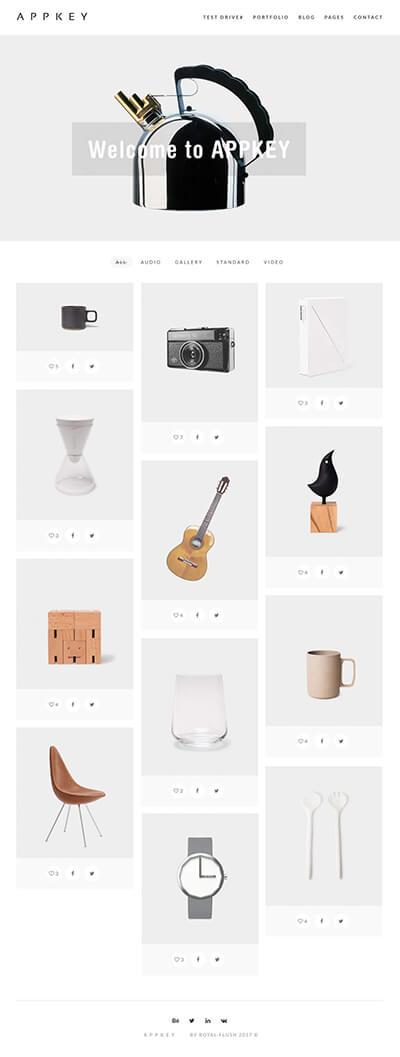 小物・雑貨 ウェブデザイン